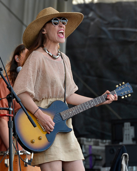 NEW ORLEANS, LA-APRIL 28: Feist perfoms at the New Orleans Jazz & Heritage Festival in New Orleans, LA on April 28, 2012. (Photo by Clayton Call/Redferns)