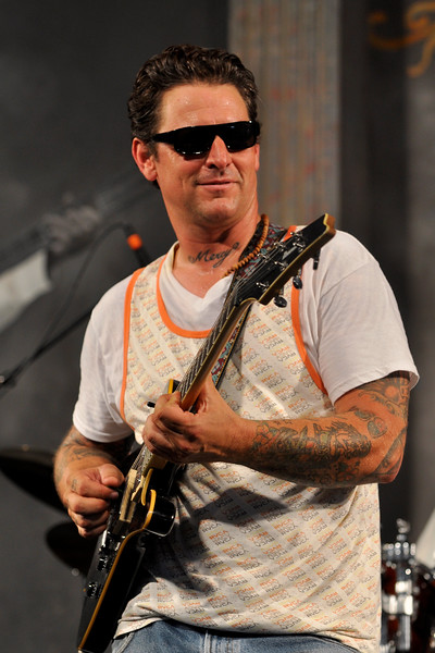 Eric Lindell perfoming in the Blues Tent at the New Orleans Jazz & Heritage Festival on May 3, 2009.
