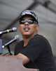 NEW ORLEANS, LA-APRIL 29: Ivan Neville performs with Dumpstaphunk at the Acura Stage at the New Orleans Jazz & Heritage Festival on April 29, 2010. (Photo by Clayton Call/Redferns)
