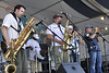 NEW ORLEANS, LA-April 24: The New Orleans Nightcrawlers perform at the New Orleans Jazz & Heritage Festiival on April 24, 2009. (Photo by Clayton Call/Redferns)