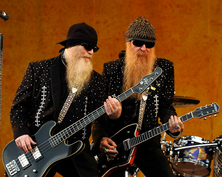 ZZ Top performs at the New Orleans Jazz & Heritage Festival on May 4, 2007.
