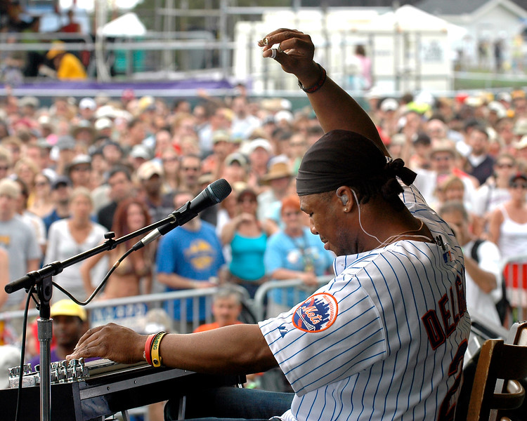 Robert Randolph and the Family Band on the Southern Comfort Blues Stage at Jazzfest 2006.