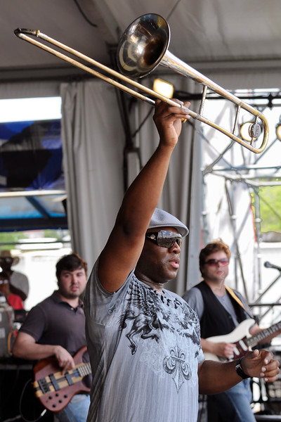 Sam Williams performing with Big Sam's Funky Nation at the New Orleans Jazz & Heritage Festival on April 25, 2009.
