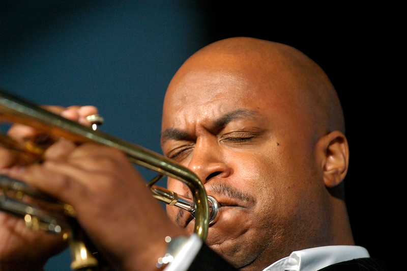 Nicholas Payton performing at the New Orleans Jazz & Heritage Festival on April 27, 2008.