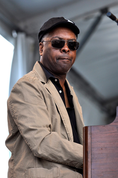 Booker T. Jones performing live with the Drive-By Truckers at the New Orleans Jazz & Heritage Festival on April 25, 2009.