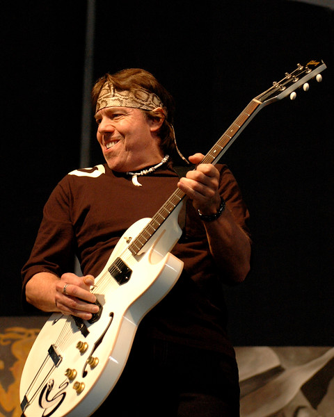 George Thorogood performs in the Blues Tent at the New Orleans Jaz & Heritage Festival on April 29, 2007.