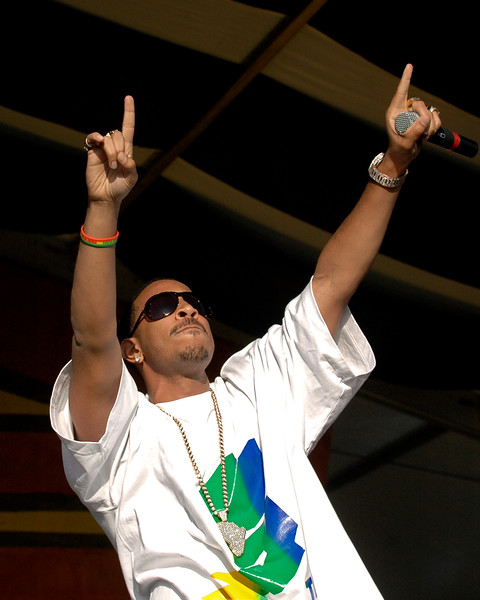 Ludacris performs at the New Orleans Jazz & Heritage Festival on April 28, 2007.