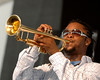 Maurice Brown performs at the New Orleans Jazz & Heritage Festival on May 6, 2007.