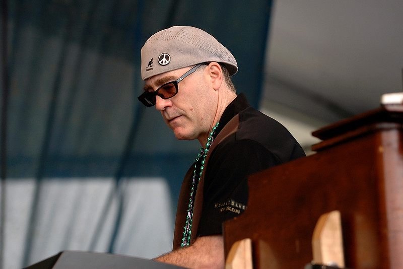 Dave Mattews performing with Etta James & the Roots Band at the New Orleans Jazz & Heritage Festival on April 29, 2006.