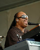 Stevie Wonder performing at the New Orleans Jazz & Heritage Festival on May 2, 2008.