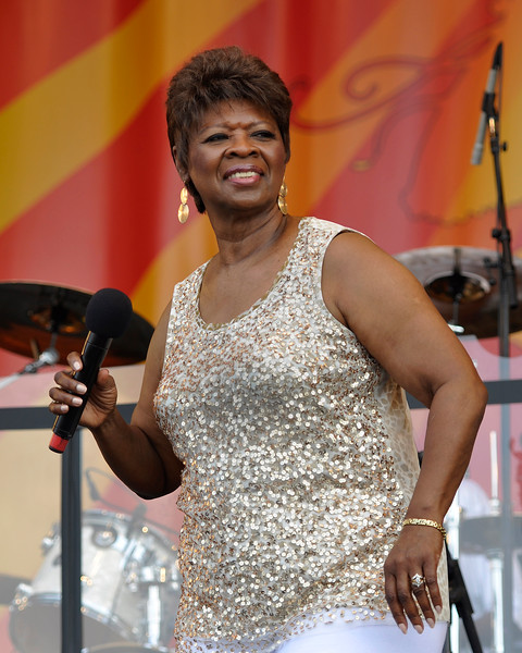 NEW ORLEANS, LA-May 5:  Irma Thomas performs at the New Orleans Jazz & Heritage Festival in New Orleans, LA on May 5, 2012. (Photo by Clayton Call/Redferns)
