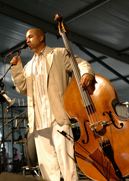 Roland Guering perfoming at the New Orleans Jazz & Heritage Festival on May 5, 2006.