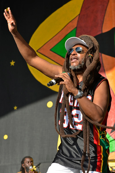 NEW ORLEANS, LA-APRIL 27: David Hinds performs with Steel Pulse at the New Orleans Jazz & Heritage Festival in New Orleans, LA on April 27, 2012. (Photo by Clayton Call/Redferns)