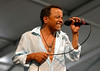 John Boutte perfoming in the Jazz Tent at the New Orleans Jazz & Heritage Festival on May 7, 2006.