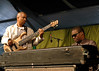 Roland Guerin (L) and Marcus Roberts (R) perfoming at the New Orleans Jazz & Heritage Festival on May 5, 2006.