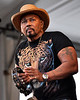 Aaron Neville performing with the Neville Brothers at the New Orleans Jazz & Heritage Festival on May 3, 2009,