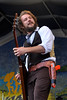 NEW ORLEANS, LA-APRIL 24: Jim James performs with My Morning Jacket at the New Orleans Jazz & Heritage Festival on April 24, 2010. (Photo by Clayton Call/Redferns)