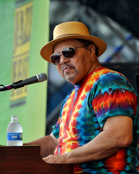 NEW ORLEANS, LA-May 6: Art Neville performs with the Funky Meters at the New Orleans Jazz & Heritage Festival in New Orleans, LA on May 6, 2012. (Photo by Clayton Call/Redferns)