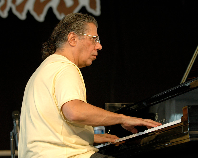 Chick Corea performing live on stage with Bobby McFerrin at the New Orleans Jazz & Heritage Festival on May 3, 2008.