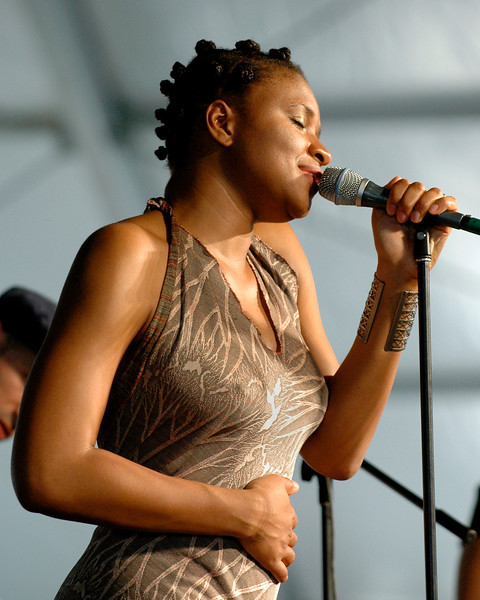 Lizz Wright performing at the New Orleans Jazz & Heritage Festival on April 25, 2008.