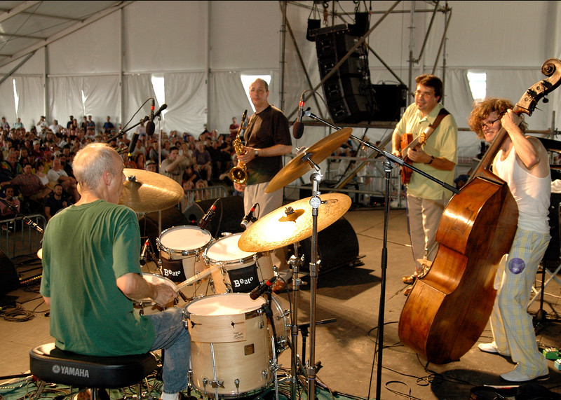 Astral Project performing in the Jazz Tent at the New Orleans Jazz & Heritage Festival on May 6, 2006.