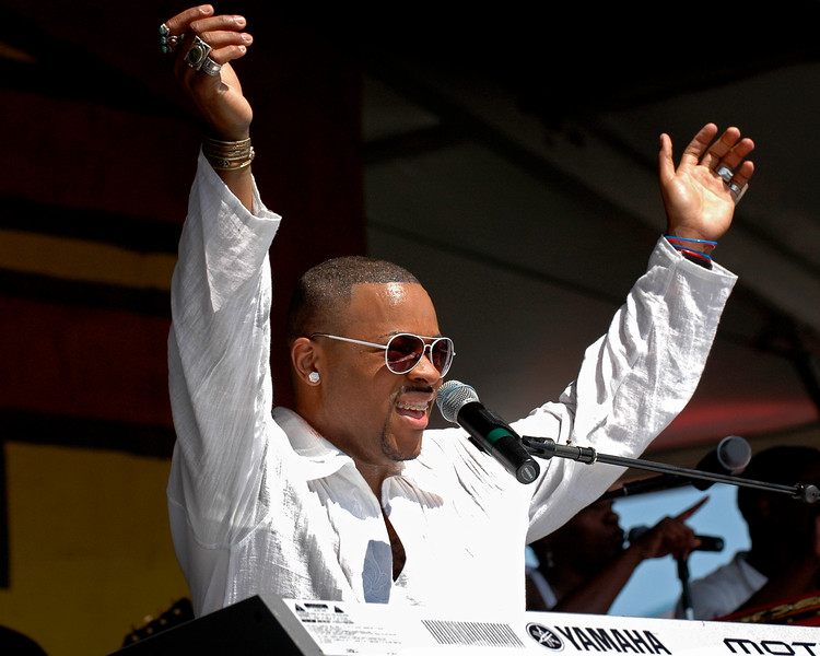 Davell Crawford performs at the New Orleans Jazz & Heritage Festival on April 28, 2007.