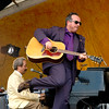 Allen Toussaint & Elvis Costello perfoming at the New Orleans Jazz & Heritage Festival on April 30, 2006.