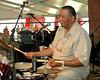 Legendary traditional jazz drummer Bob French plays with his Original Tuxedo Jazz Band in the Economy Hall tent at Jazzfest 2006.