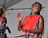 Ile Ayie of Brazil performing at the New Orleans Jazz & Heritage Festival on April 26, 2009.