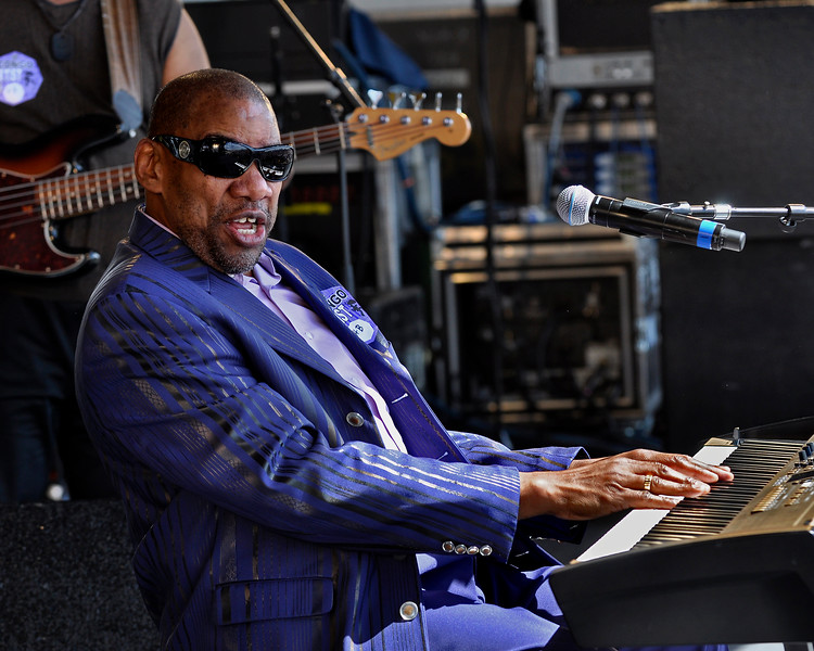 Henry Butler performing live at the New Orleans Jazz & Heritage Festival on April 24, 2009.