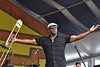 NEW ORLEANS, LA-APRIL 24: Sam Williams performs with Big Sam's Funky Nation at Congo Square at the New Orleans Jazz &  Heritage Festival on April 24, 2010. (Photo by Clayton Call/Redferns)