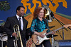 NEW ORLEANS, LA-May 6: Bonnie Raitt performs as part of the Preservation Hall 50th Anniversary at the New Orleans Jazz & Heritage Festival in New Orleans, LA on May 6, 2012. (L-R): Freddie Lonzo, Bonnie Raitt (Photo by Clayton Call/Redferns)
