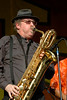 """Stephen """"Doc"""" Kupka performing live on stage with Tower of Power at the New Orleans Jazz & Heritage Festival on May 1, 2008."""