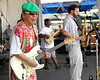June Yamagishi, Marc Pero and Jason Mingledorf perform with Papa Grows Funk at the New Orleans Jazz & Heritage Festival on May 6, 2007.