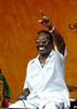 Big Chief Bo Dollis performing with the Wild Magnolias at the New Orleans Jazz & Heritage Festival on May 7, 2006.