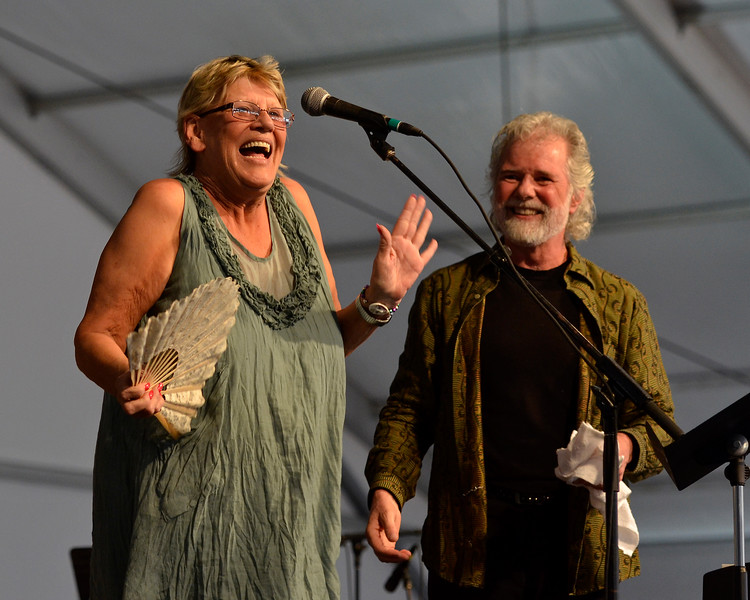 NEW ORLEANS, LA-APRIL 27: Bonnie Bramlett performs with Chuck Leavell at the New Orleans Jazz & Heritage Festival in New Orleans, LA on April 27, 2012. (Photo by Clayton Call/Redferns)