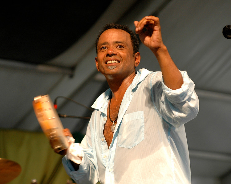 John Boutte perfoming at the New Orleans Jazz & Heritage Festival on May 7, 2006.