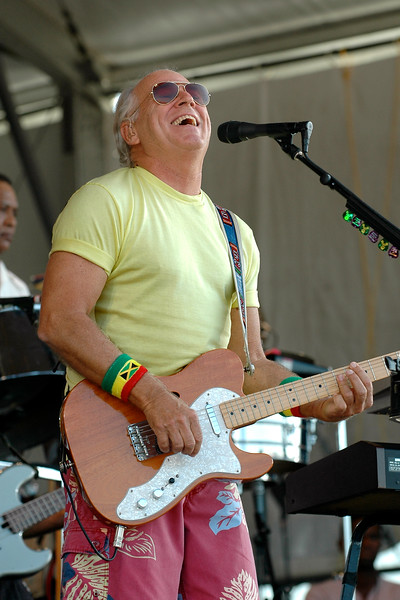 Jimmy Buffett performing at the New Orleans Jazz & Heritage Festival on May 3, 2008.