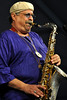 NEW ORLEANS, LA-APRIL 23: Joe Lovano performs at the New Orleans Jazz & Heritage Festival on April 23, 2010. (Photo by Clayton Call/Redferns)