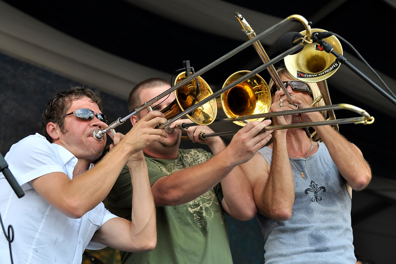 Bonerama performing at the New Orleans Jazz & Heritage Festival on May 2, 2009.