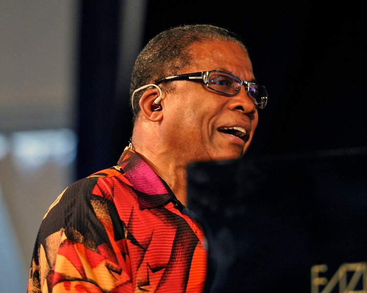 NEW ORLEANS, LA-May 5:  Herbie Hancock performs at the New Orleans Jazz & Heritage Festival in New Orleans, LA on May 5, 2012. (Photo by Clayton Call/Redferns)