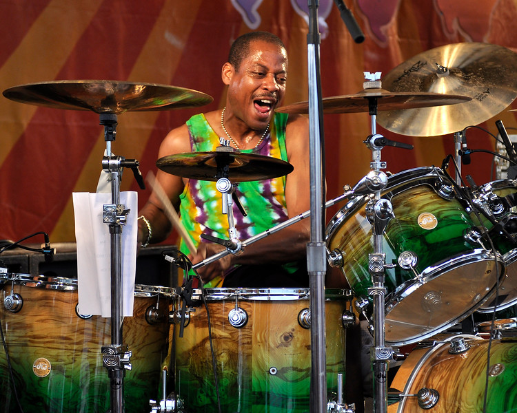 Willie Green performing with the Neville Brothers Band at the New Orleans Jazz & Heritage Festival on May 3, 2009.
