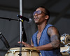 NEW ORLEANS, LA-MAY 4: Pedrito Martinez performs at the New Orleans Jazz & Heritage Festival in New Orleans, LA on May 4, 2012. (Photo by Clayton Call/Redferns)
