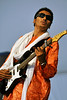 """NEW ORLEANS, LA-May 5:  Omara """"Bombino"""" Moctar of Niger performs at the New Orleans Jazz & Heritage Festival in New Orleans, LA on May 5, 2012. (Photo by Clayton Call/Redferns)"""