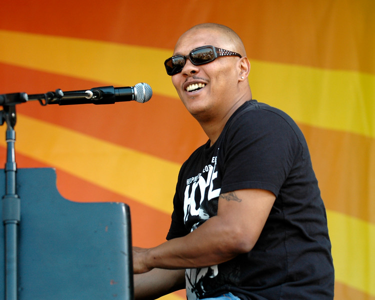 Ivan Neville performing with Dumpstaphunk at the New Orleans Jazz & Heritage Festival on May 4, 2008.
