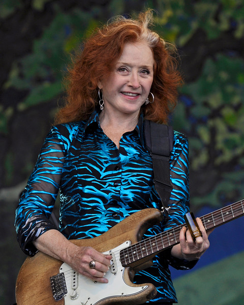 NEW ORLEANS, LA-May 6: Bonnie Raitt performs as part of the Preservation Hall 50th Anniversary at the New Orleans Jazz & Heritage Festival in New Orleans, LA on May 6, 2012. (Photo by Clayton Call/Redferns)