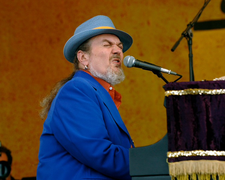 Dr. John perfoming at the New Orleans Jazz & Heritage Festival on April 28, 2006.