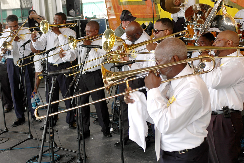 Elder Edward Babb & The Madison Bumble Bees of Winnsboro, S.C. perform at the New Orleans Jazz & Heritage Festival on May 5, 2007.
