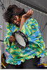 "NEW ORLEANS, LA-APRIL 24: Rosalie Washington, ""The Tambourine Lady of New Orleans"" performs with the Midnite Disturbers at the New Orleans Jazz & Heritage Festival on April 24, 2010. (Photo by Clayton Call/Redferns)"