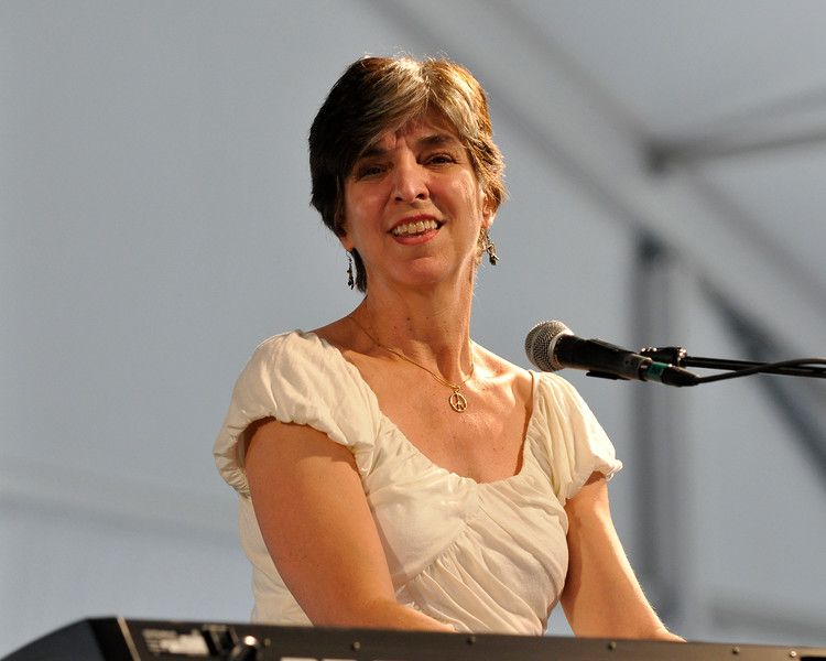 Marcia Ball performing with guitarist Roy Rogers at the New Orleans Jazz & Heritage Festival on April 24, 2009.